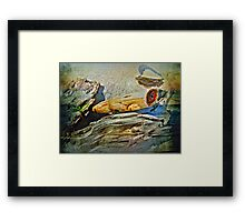 An Old Warrior Comes Home Framed Print