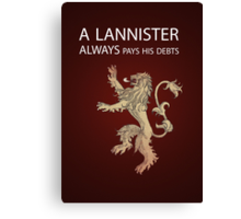 Game of Thrones: Lannister  Canvas Print