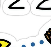 """Pacman """"i 8 sum pi"""" Sticker"""