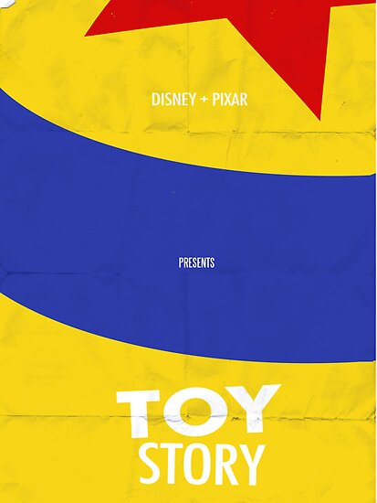 Toy Story Minimalist Movie Poster by Joshua Steele