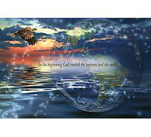 Genesis 1:1 Photographic Print