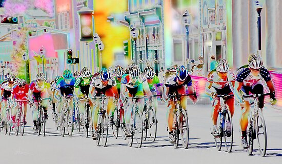 Cycling Down Main Street USA by Vicki Pelham