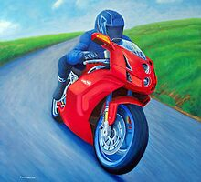 Riding the Highland - Ducati by Brian Commerford
