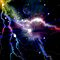 Colorful Lightning Galaxy Art Design Abstract by Nhan Ngo