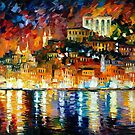 INVITING HARBOR - OIL PAINTING BY LEONID AFREMOV by Leonid  Afremov