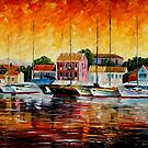 GREECE - FISKARDOS - OIL PAINTING BY LEONID AFREMOV by Leonid  Afremov
