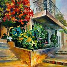 JERUSALEM - GARDEN ON THE STONES - OIL PAINTING BY LEONID AFREMOV by Leonid  Afremov