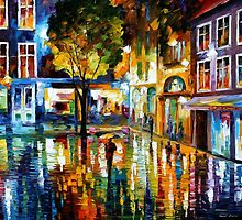 STRIP MALL - OIL PAINTING BY LEONID AFREMOV by Leonid  Afremov