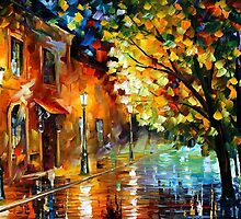 QUIET CORNER - OIL PAINTING BY LEONID AFREMOV by Leonid  Afremov