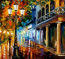 NIGHT TRANSFORMATION - OIL PAINTING BY LEONID AFREMOV by Leonid  Afremov