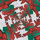 The Welsh Dragon Abstract by Steve Purnell