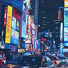 New York City Times Square Traffic and City Lights by artshop77
