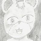 bear . pencil work of face's (3) by StuartBoyd