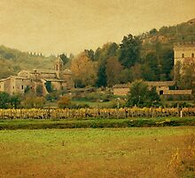 Country Church-Tuscany by Deborah Downes