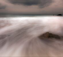 Misty Water-Rocky Bay Ireland by Pascal Lee