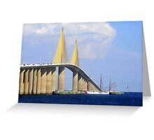 Eagle under the Skyway Greeting Card
