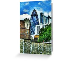 The London Gherkin  Greeting Card