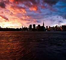 NYC Sunset by Jakub Redziniak