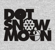 Dot Snow Moon (Black Text) Kids Clothes