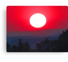 Farewell Blazing Sun, Illumine Our 'Morrow Canvas Print