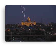 When lightning Srikes Canvas Print