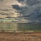 Pingelap passing rain shower by John Marelli