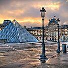Louvre au matin by Victor Pugatschew