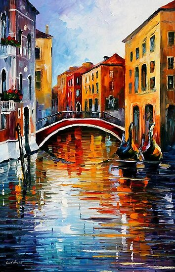 CANAL IN VENICE - OIL PAINTING BY LEONID AFREMOV by Leonid  Afremov