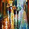 ITALIAN RAIN - OIL PAINTING BY LEONID AFREMOV by Leonid  Afremov