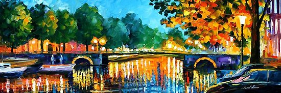 AMSTERDAM - EARLY MORNING - OIL PAINTING BY LEONID AFREMOV by Leonid  Afremov