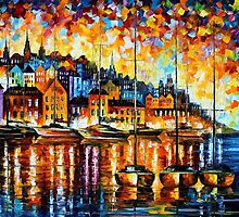 HARBOR OF CORSICA - OIL PAINTING BY LEONID AFREMOV by Leonid  Afremov