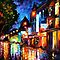 SLEEPING AMSTERDAM - OIL PAINTING BY LEONID AFREMOV by Leonid  Afremov