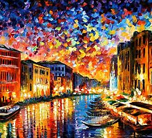 VENICE - GRAND CANAL - OIL PAINTING BY LEONID AFREMOV by Leonid  Afremov