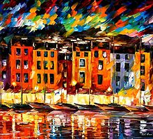PORTOFINO  -  LIGURIA, ITALY - OIL PAINTING BY LEONID AFREMOV by Leonid  Afremov