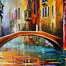 VENICE BRIDGE - OIL PAINTING BY LEONID AFREMOV by Leonid  Afremov