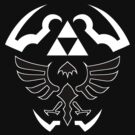 Hylian Shield - Legend of Zelda [black] by TheInternet