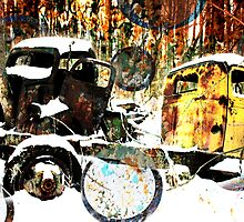 Rusted America: Two Trucks in the Woods by Connor Ashby
