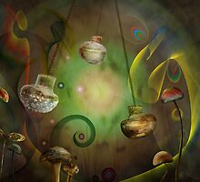 Glass Mushrooms by Cornelia Mladenova