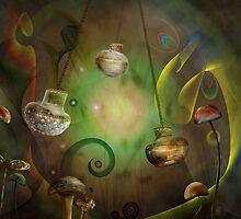 Glass Mushrooms by Cornelia Mladenova