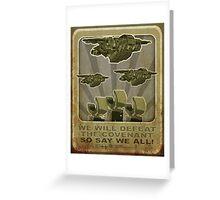 Halo Propaganda  Greeting Card