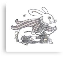 The White Rabbit Rush  Canvas Print