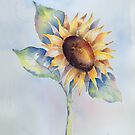 Blooming Sunflower by arline wagner