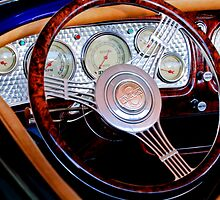 1936 Auburn Speedster Replica Steering Wheel by Jill Reger