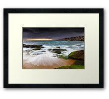 Swirls on the Rock Framed Print