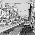 Fitzroy street scene by Loui  Jover