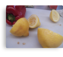 Lemons and Peppers Metal Print