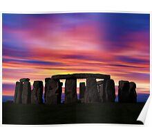 Stonhenge New Age Dawn Poster