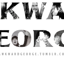 Awkward George - The Official T-Shirt Sticker