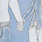 Man and woman holding hands by Lisa Kyle Young