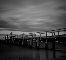 Shoal Bay pier in the eve by jubrok